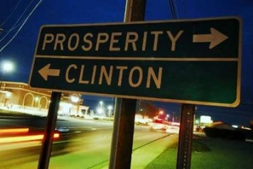 prosperity or clinton sign