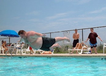 fat guy dive