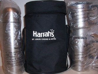 harrah's travel thermos kit