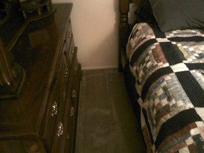 Benny's bedroom is clean