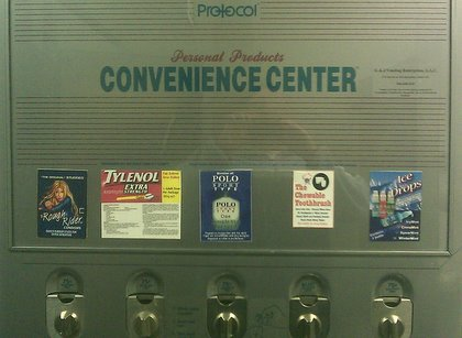 Convenience Center in the Men's Room