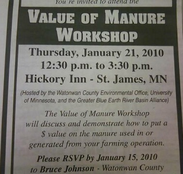 Manure Workshop