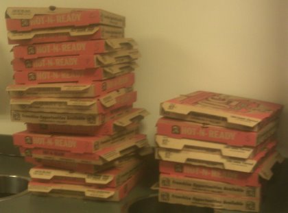 Empty Pizza Boxes