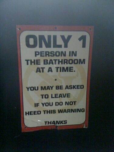 Sign in Men's Restroom