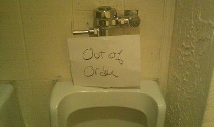 Broken Urinal