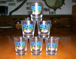 Smokin Oyster Bar Shot Glasses